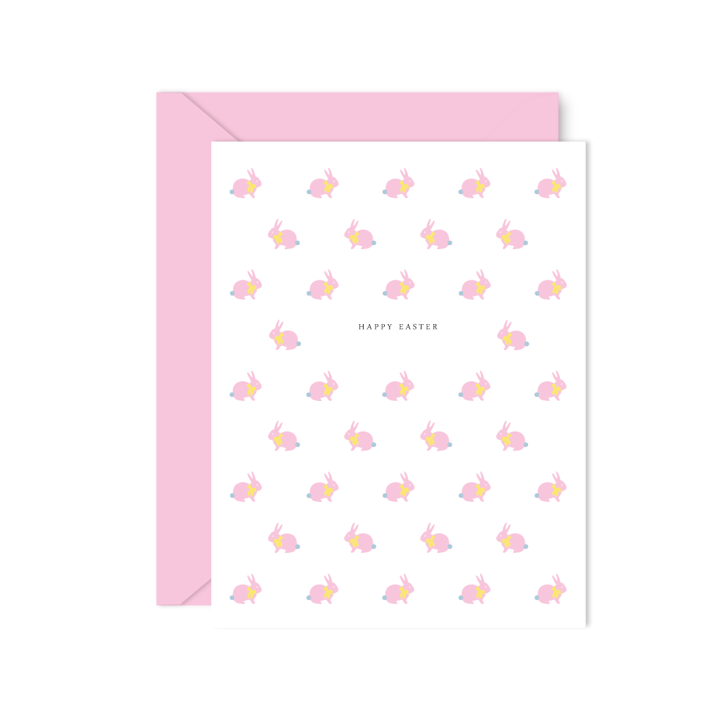 PINK EASTER BUNNY CARDS