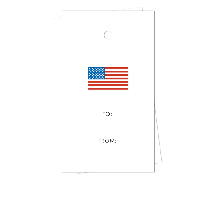 American Flag Gift Tags