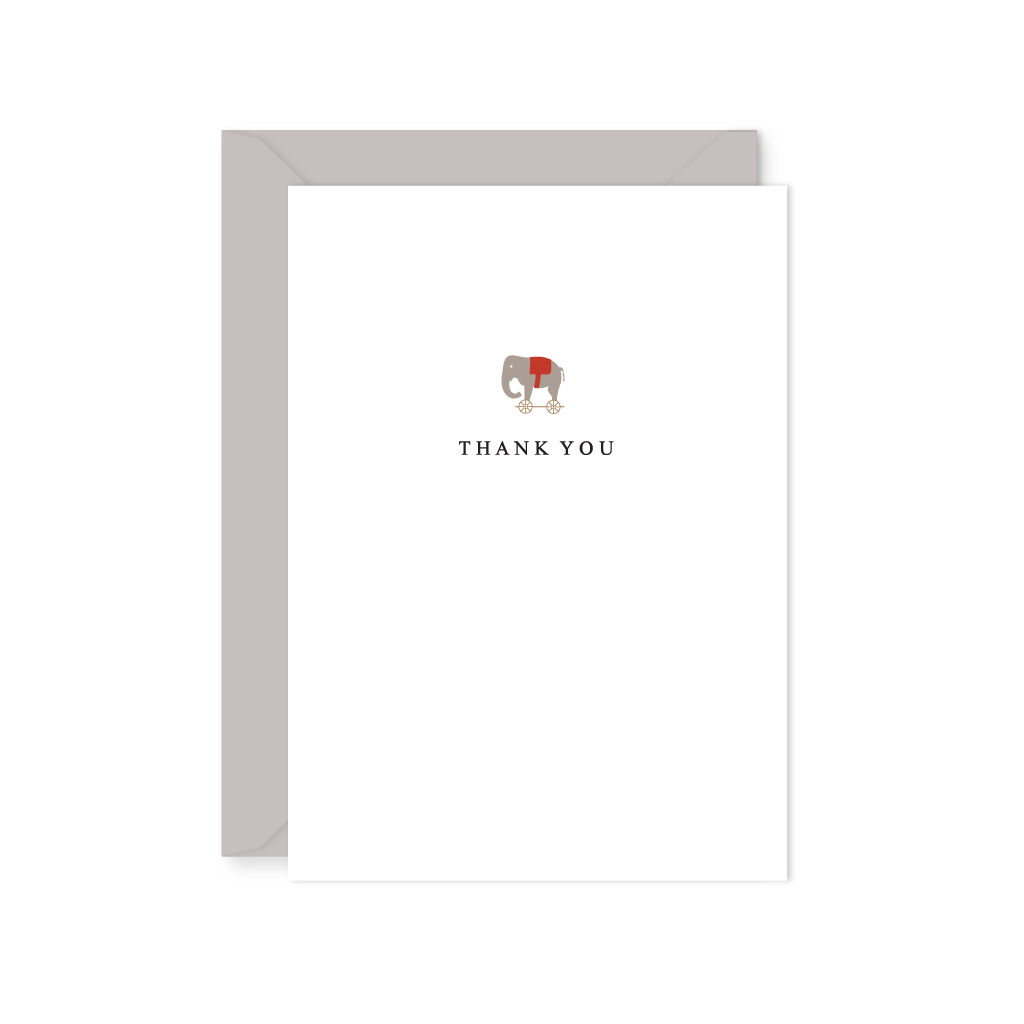TOY ELEPHANT THANK YOU NOTE