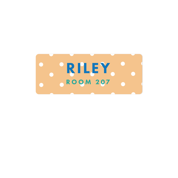 Polka Dot Name Labels