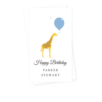 Birthday Giraffe Gift Tags