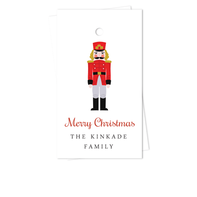 Nutcracker Holiday Gift Tags