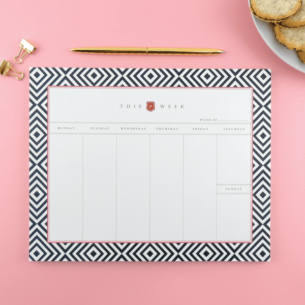 NOTEPAD, XOXO WEEKLY DESK PLANNER