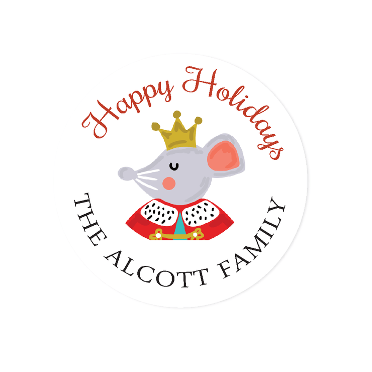 Nutcracker Mouse Holiday Stickers