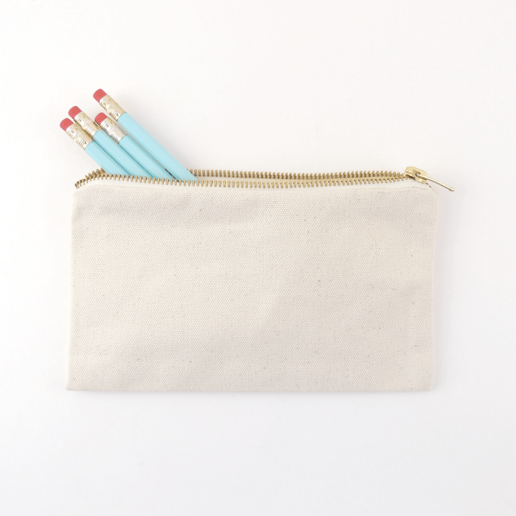 CANVAS PENCIL POUCH, MEDIUM