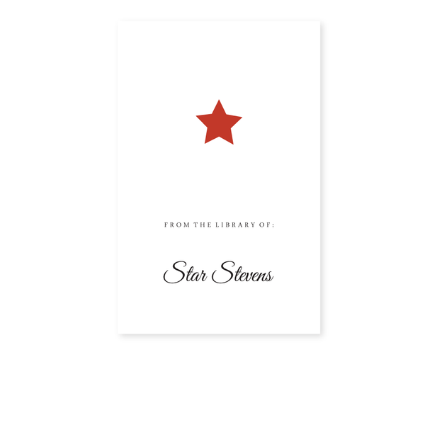 STAR BOOKPLATE