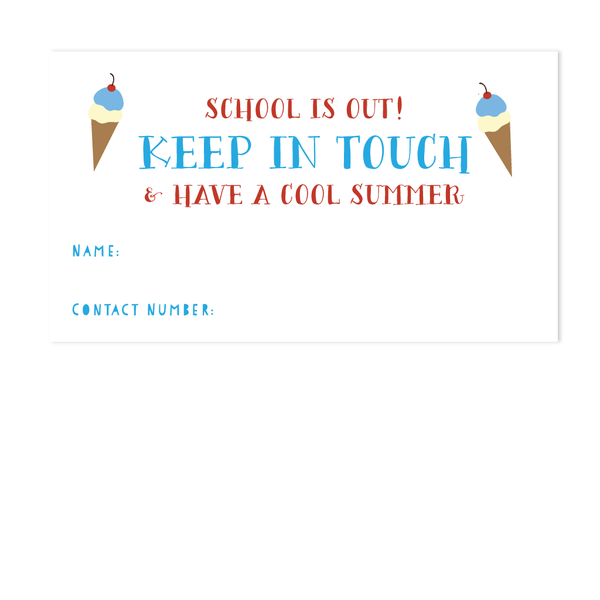 STAY COOL CALLING CARD