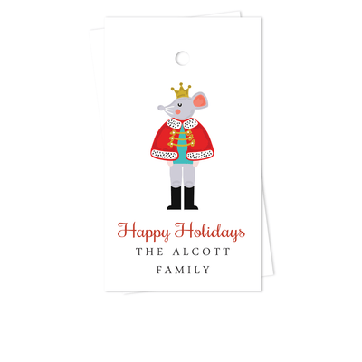 Nutcracker Mouse Holiday Gift Tags