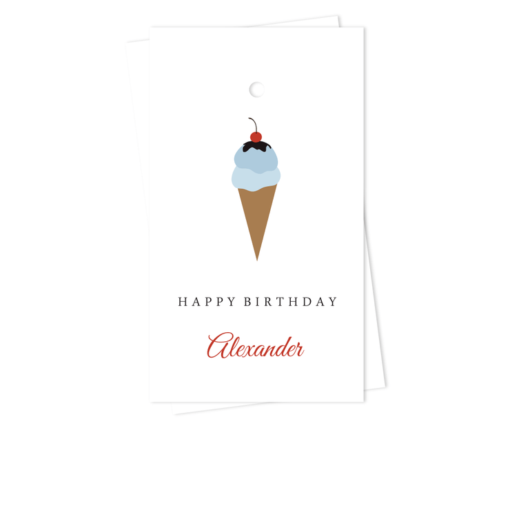 Ice Cream Gift Tags