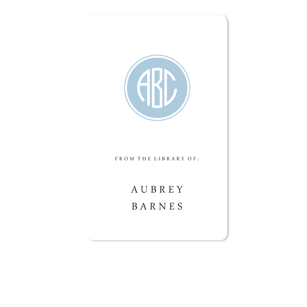 FILLED CIRCLE MONOGRAM BOOKPLATE