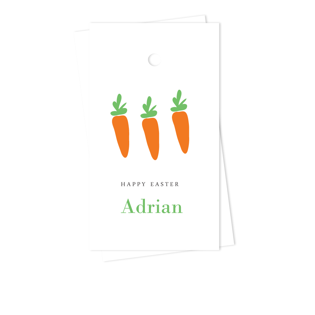 CARROTS EASTER GIFT TAGS
