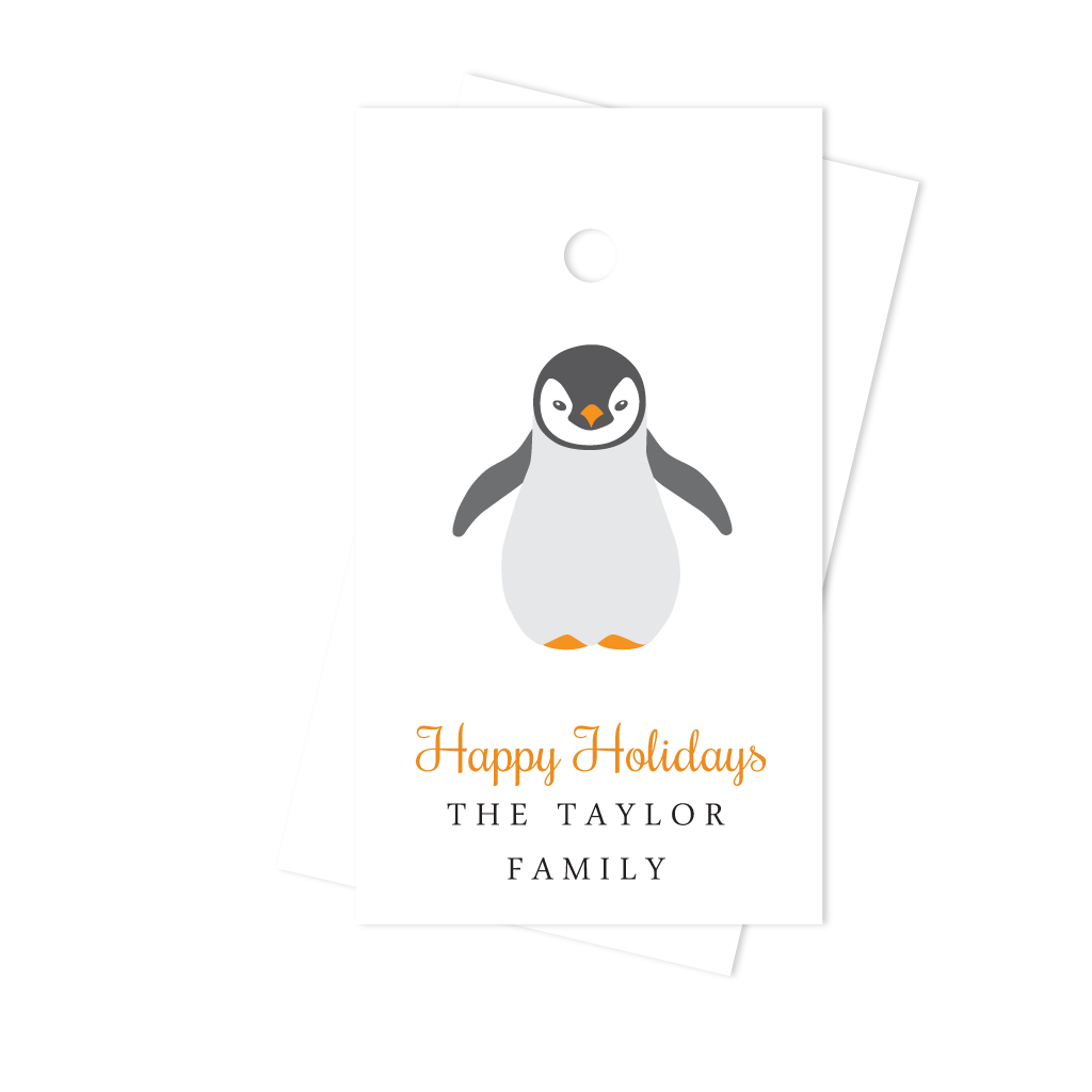 PENGUIN HOLIDAY TAG