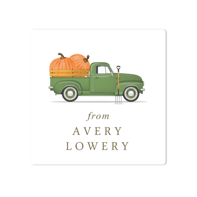 Pumpkin Truck Stickers
