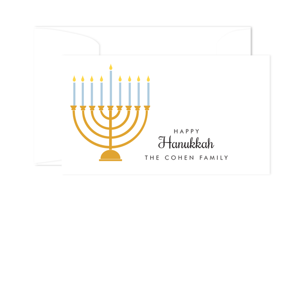MENORAH HOLIDAY GIFT ENCLOSURE