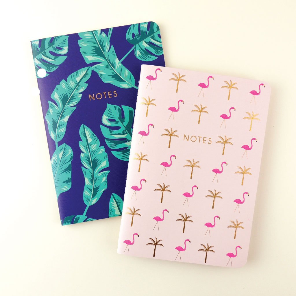 TROPICAL NOTEBOOK SET OF 2