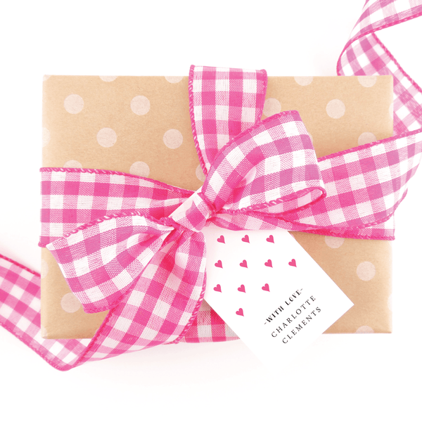 Preppy Hearts Gift Tags