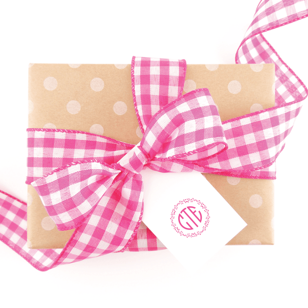 BERRIES MONOGRAM GIFT TAGS