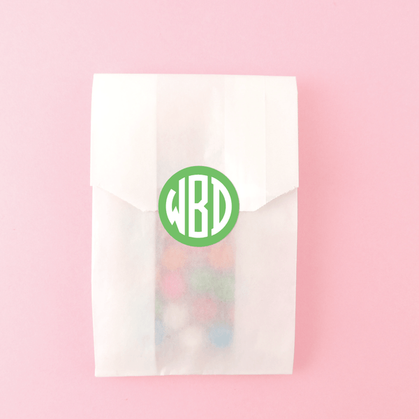 CIRCLE BLOCK MONOGRAM STICKERS