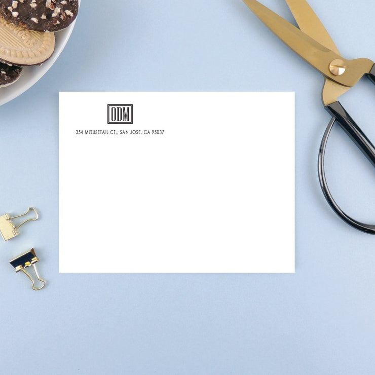 Boxed Monogram Address Labels