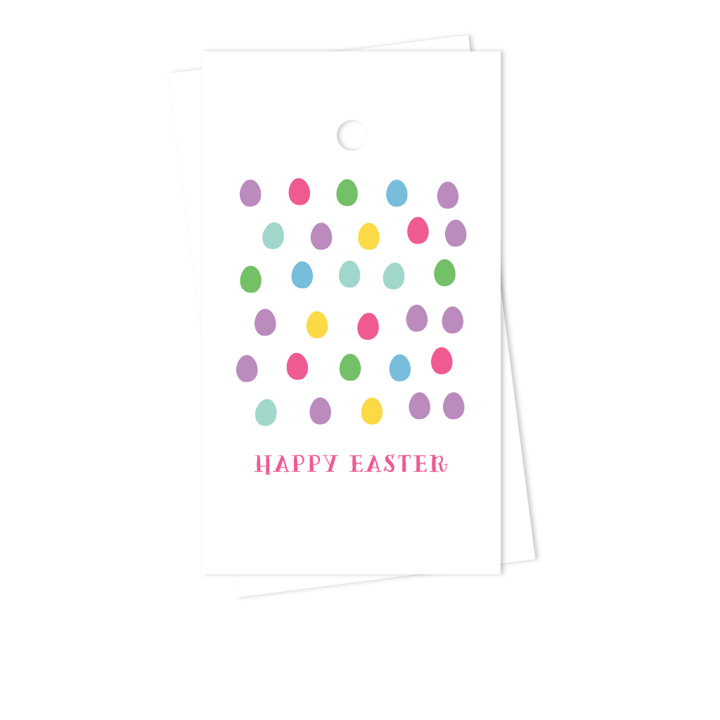 Personalized easter gift tags easter eggs preppy prodigy easter eggs gift tags negle Choice Image