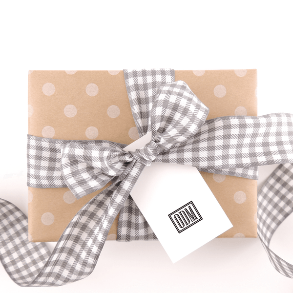 BOXED MONOGRAM GIFT TAG
