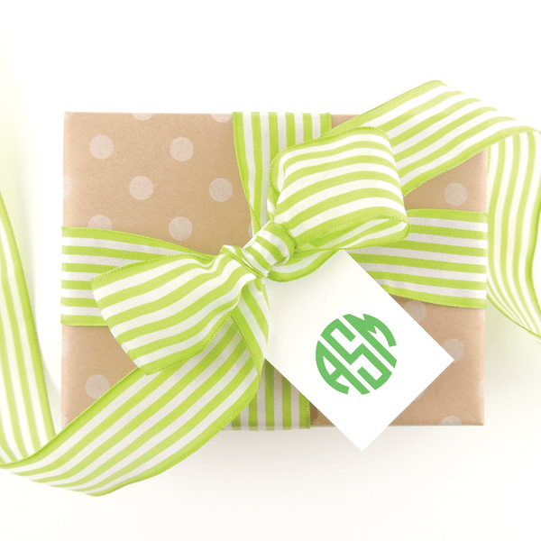 CIRCLE BLOCK MONOGRAM GIFT TAGS