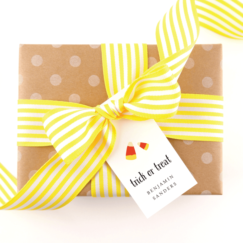 Halloween Candy Corn Gift Tags