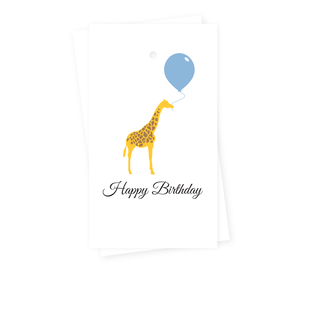 GIRAFFE BIRTHDAY GIFT TAGS