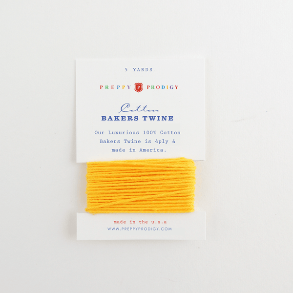 BAKERS TWINE, SOLID YELLOW