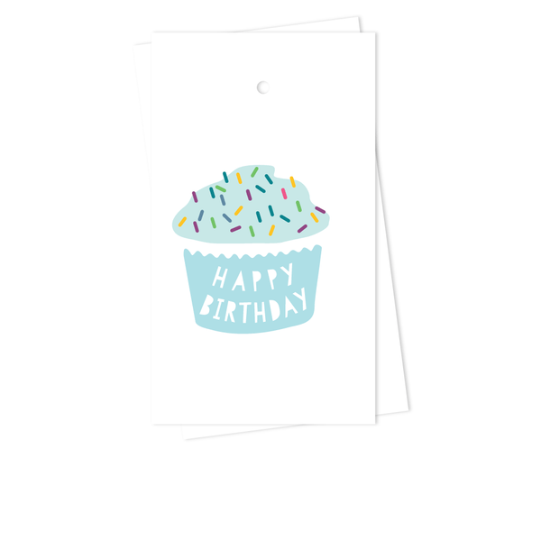 CUPCAKE BIRTHDAY GIFT TAGS