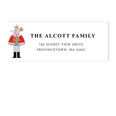 Mouse Holiday Address Labels