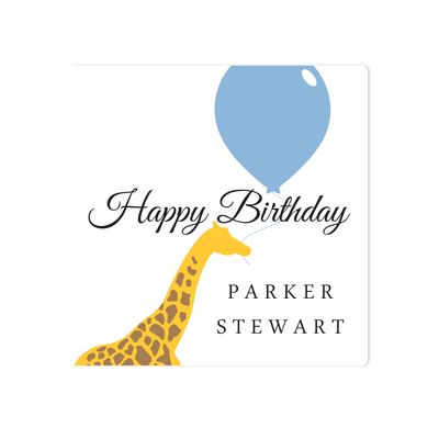 Birthday Giraffe Stickers