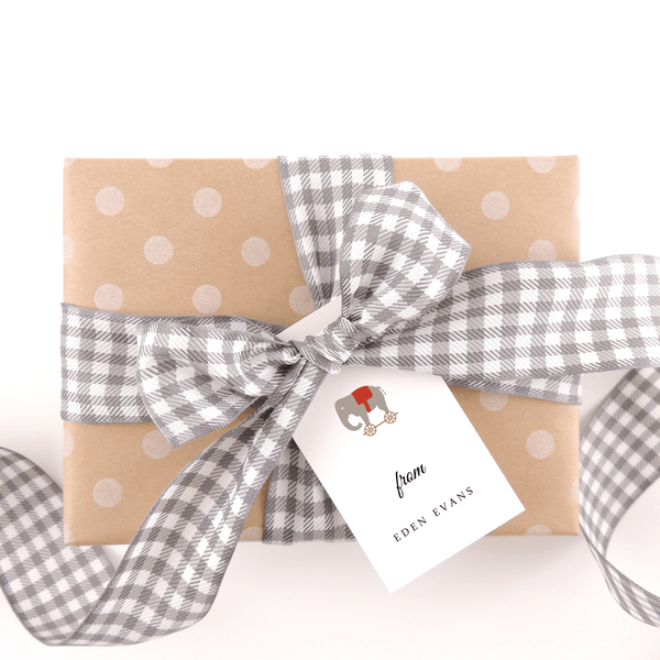TOY ELEPHANT GIFT TAGS