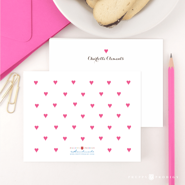 Preppy Hearts Stationery
