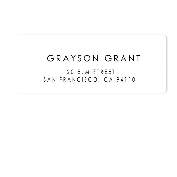 GRADUATE ADDRESS LABELS