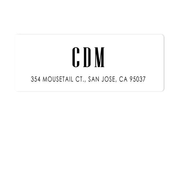 CLASSIC MONOGRAM ADDRESS LABELS