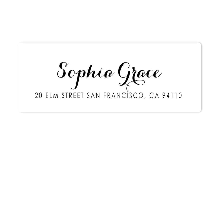 Calligraphy Address Labels