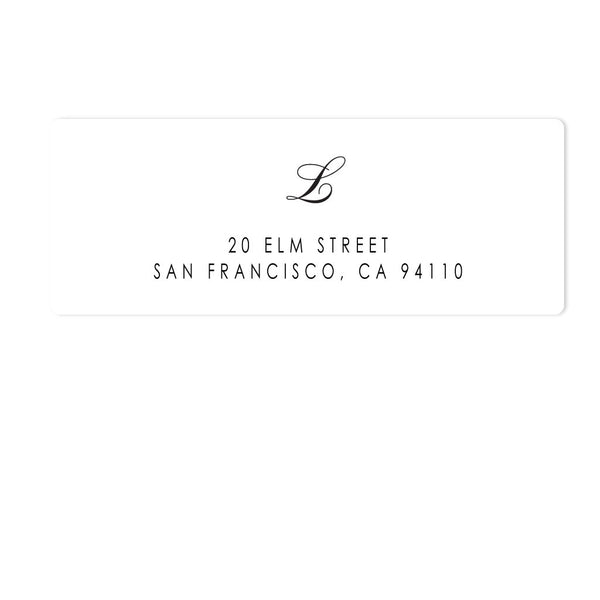 SCRIPT MONOGRAM ADDRESS LABELS