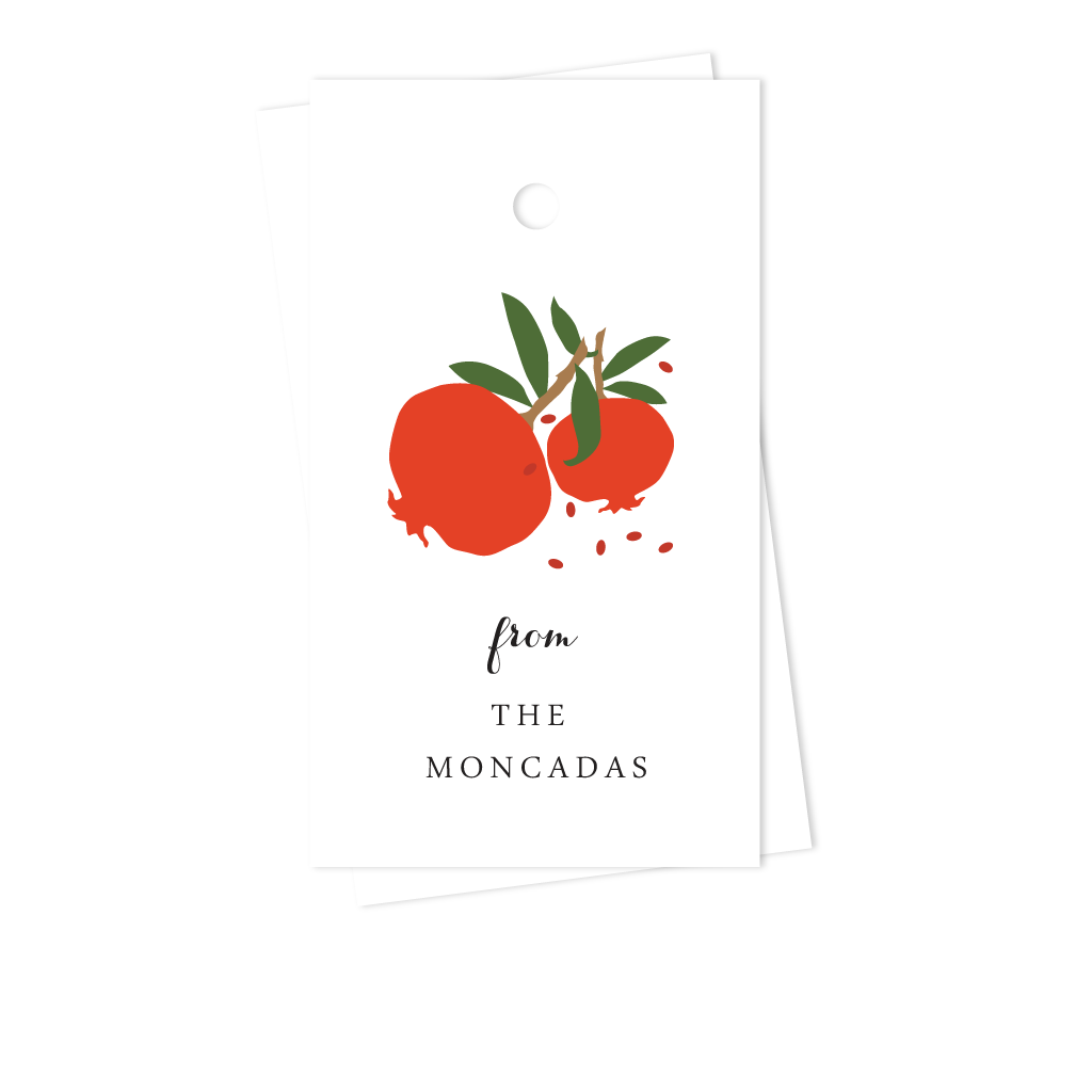 POMEGRANATE GIFT TAGS