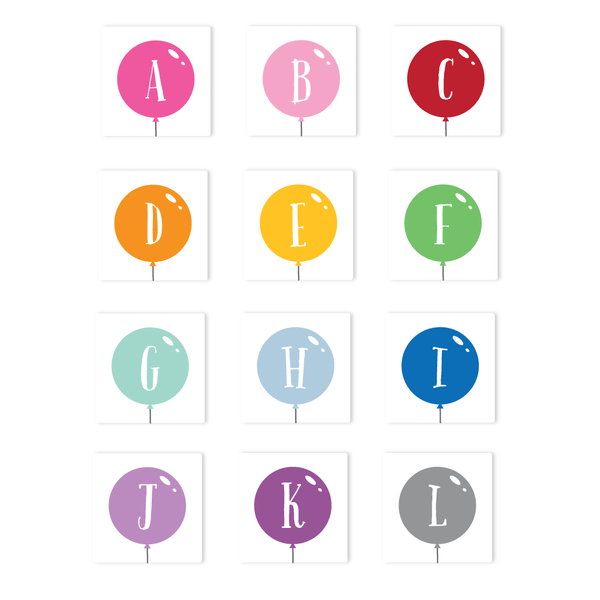 BALLOON LETTER STICKERS