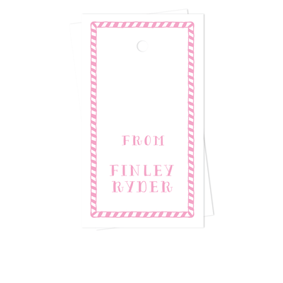Hand Drawn Stripes Gift Tags