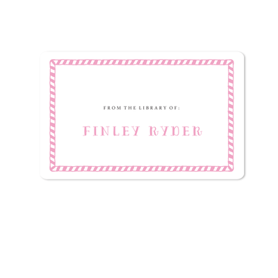 Hand Drawn Stripe Bookplates