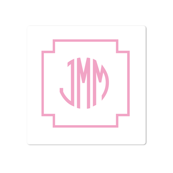 KEY MONOGRAM STICKERS