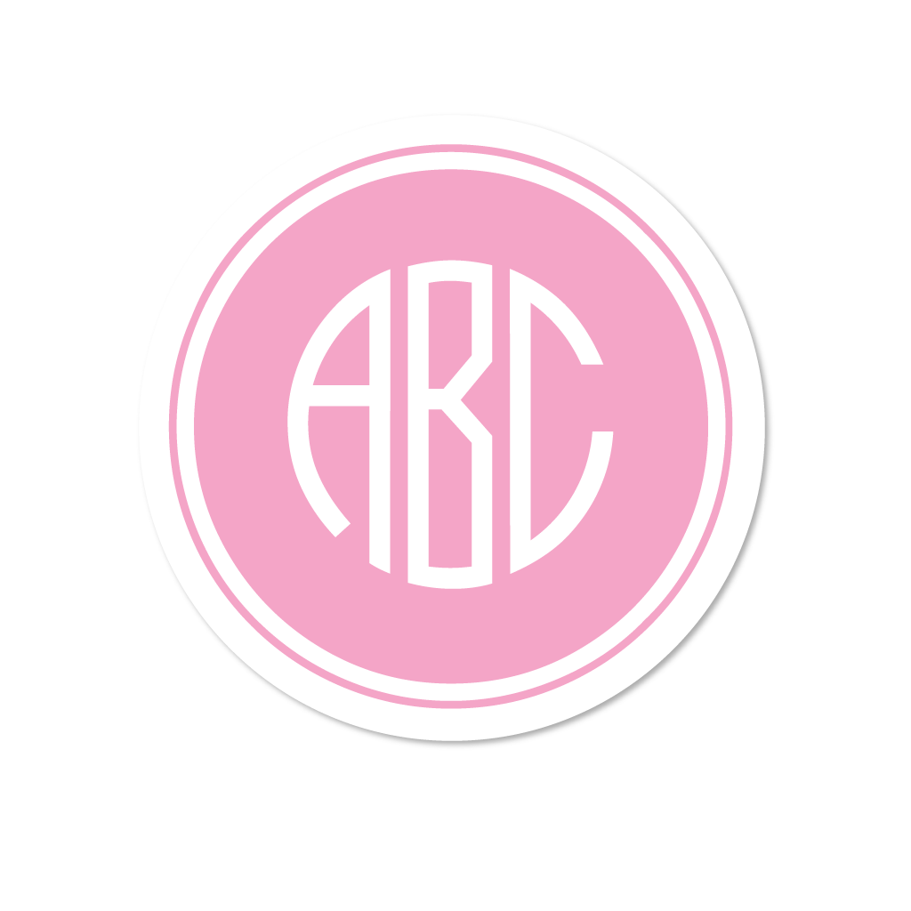 FILLED CIRCLE MONOGRAM STICKERS