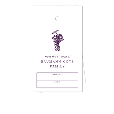 Grape Kitchen Gift Tags