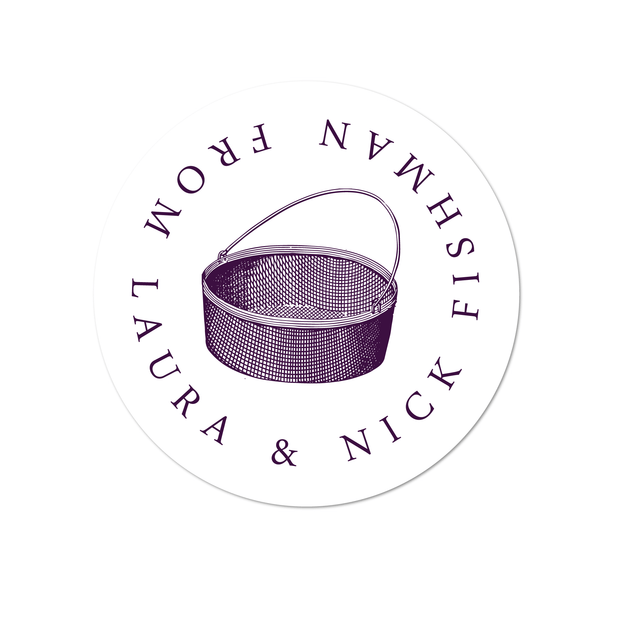 Round Basket Labels