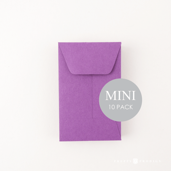 MINI PURPLE ENVELOPES
