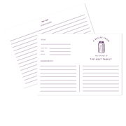 Modern Canning Recipe Cards