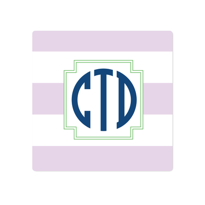 Stripe Monogram Stickers