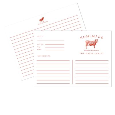 Cow Recipe Cards